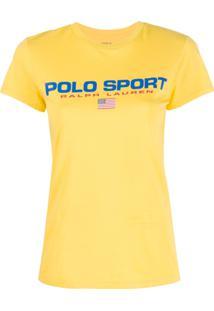 Polo Ralph Lauren Camiseta Com Estampa De Logo - Amarelo