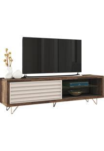Rack Bancada Para Tv Até 70 Sala De Estar Antália Deck/Off White - Gran Belo