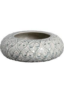 Vaso Decorativo Antique Arabesco I Bege E Verde