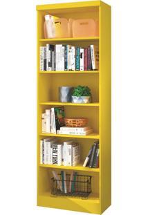 Estante Para Livros Linus Com 5 Prateleiras Amarelo Qmovi