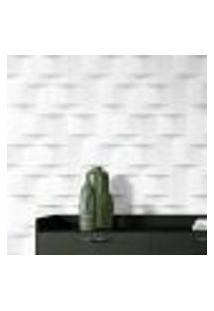 Papel De Parede Adesivo Autocolante Abstrato Geométrico 3D Branco E Cinza
