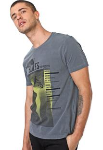 Camiseta Calvin Klein Jeans Rules Cinza