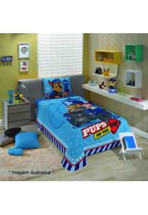 Jogo De Cama Patrulha Canina® Solteiro- Azul & Vermelho