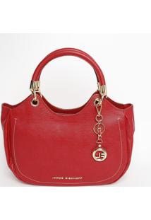 Bolsa Texturizada Em Couro - Vermelha - 21X37X13Cmjorge Bischoff