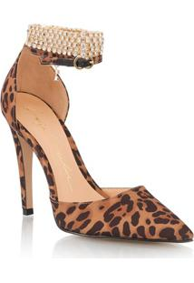 Scarpin Salto Alto Leopardo