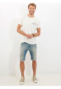 Bermuda Clássica Clearwater 3D Jeans Azul Masculina Be Classica Clearwater 3D-Jeans Medio-38