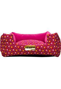 Cama Acolchoada- Pink & Rosa Escuro- 20X50X50Cm-4 Patas