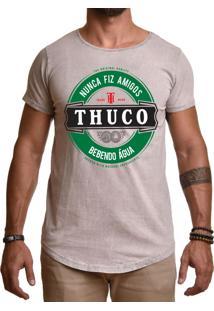 Camiseta Use Thuco Nunca Fiz Amigos Marrom Claro