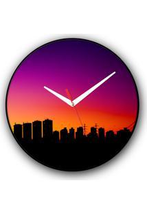 Relógio De Parede Colours Creative Photo Decor Decorativo, Criativo E Diferente - Skyline