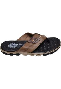 Chinelo Masculino Sandal Extreme West Coast Marrom Claro