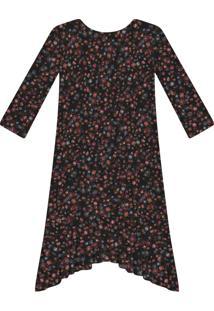 Vestido Manga 3/4 Estampado Tecido Wild Flower - Lez A Lez