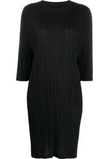 Pleats Please By Issey Miyake Relaxed-Fit T-Shirt Dress - Preto