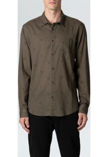 Camisa Little Gouache Ml-Militar/Carmim - P