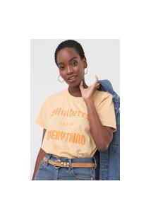 Camiseta Colcci Mulheres Bege