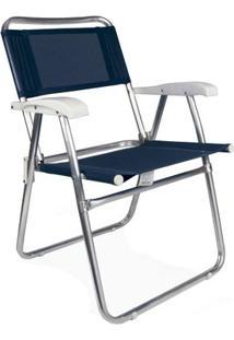 Cadeira Master Alumínio Tela Sannet - Unissex-Marinho