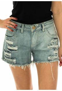 Shorts Capim Canela Jeans Detonado Jeans