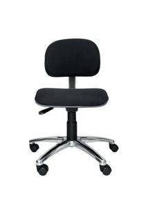Cadeira Secretária Bits. Tecido. Base Alumínio. Ajuste De Altura Do Encosto E Assento. Rodízios. Prolabore Produtos Ergonômicos