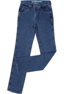 Calça Jeans Wrangler Cowboy Cut Slim Fit Azul 22048
