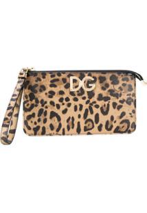Dolce & Gabbana Clutch Animal Print De Couro - Green