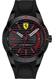 Relógio Scuderia Ferrari Masculino Borracha Preta - 830428