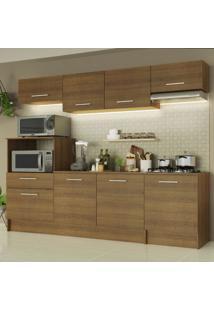 Cozinha Completa Madesa Onix 240001 Com Armário E Balcão - Rustic Marrom