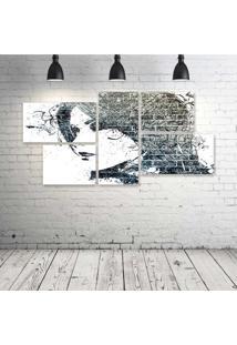 Quadro Decorativo - Urban-Art-Face - Composto De 5 Quadros