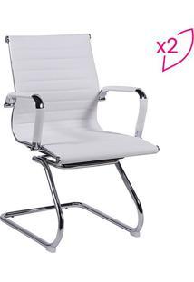 Jogo De Cadeiras Office Eames Esteirinha- Branco- 2Por Design