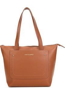 Bolsa Loucos & Santos Shopper Floater Soft Feminina - Feminino-Caramelo