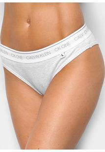 Calcinha Tanga Calvin Klein Ck One Basic - Feminino-Cinza Claro