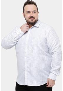 Camisa Social Broken Rules Plus Size Mini Print Masculina - Masculino