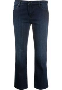 Love Moschino Calça Jeans Cropped Cintura Alta - Azul