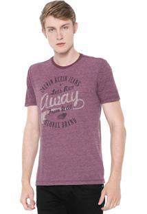 Camiseta Calvin Klein Jeans Away Vinho