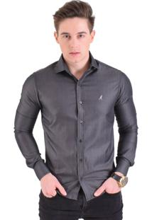 Camisa Horus Slim Cinza Escuro