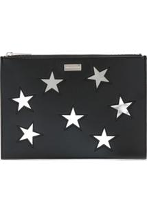 Stella Mccartney Clutch Com Bordado - Preto