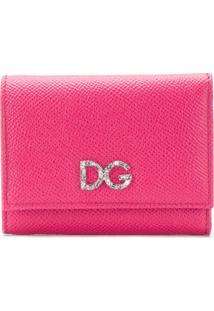 Dolce & Gabbana Carteira Pequena De Couro - Rosa