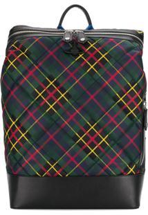 Vivienne Westwood Wimbledon Tartan Backpack - Verde
