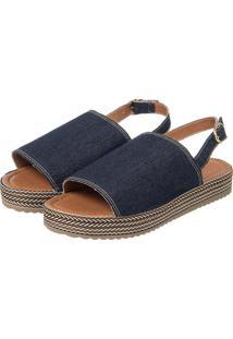 Sandã¡Lia Flatform Gorgurã£O Jeans - Jeans - Feminino - Dafiti