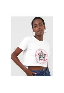 Camiseta Cropped Planet Girls Tigre Branca