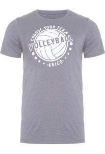 Camiseta Masculina Indoor Volley - Cinza