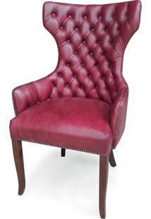 Cadeira Berger Capitonê Com Tachas Design Clássico