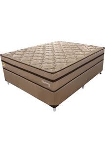 Cama Box Com Colchão Casal Supreme Mola Ensacada (72X138X188) Dourado