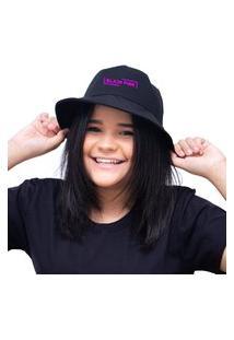 Chapéu Bucket Unissex Personalizado Banda Black Pink - Preto