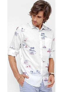 Camisa Colcci Manga Longa Beach House Masculina - Masculino