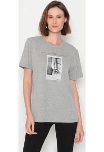 "Camiseta ""No Matter What"" - Cinza & Preta - Forumforum"