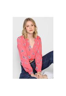 Blusa Gap Floral Rosa/Branca