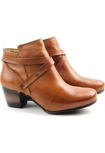 Bota Feminina Cano Baixo F3003 Tan Burned 33