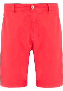 Bermuda Masculina Casual Alfaiataria - Vermelho