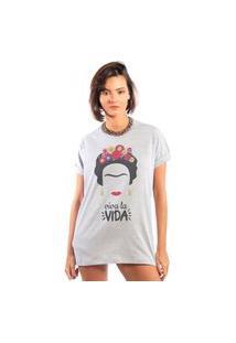 Camiseta Feminina Mirat Viva La Vida Mescla