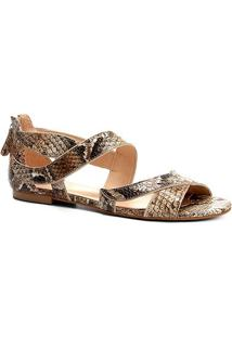 Rasteira Couro Shoestock Ondas