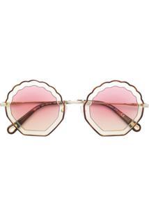 Chloé Eyewear Óculos De Sol - Neutro